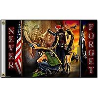 Biker Flag - VIETNAM WALL, Never Forget - 3