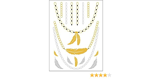 ec328c5d5ff74 Buy Eufouria Metallic Gold, Silver, Black Jewelry Inspired Temporary Bling  Flash Tattoo Online at Low Prices in India - Amazon.in