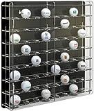 SORA Acrylic Golf Ball Display Case with black back-panel