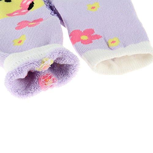 EOZY Chaussette Chaussure Semelle Toddler Botte Antidérapant Enfant Bébé Violet