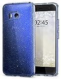 Spigen Coque HTC U11 [Liquid Crystal Glitter] Ultra Mince Premium TPU Silicone Etui Housse avec Slim Protection et Premium Clarity pour HTC U 11 (2017) - Crystal Quartz