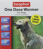 Beaphar One Dose Wormer for Large Dogs 4 Tablets (Pack of 2, Total 8 Tablets)
