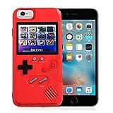 AOLVO Coque Gameboy pour IPhone, Coque 3D Game Console Rétro avec 36 Jeux, Ecran Couleur pour iPhone XS/X, IPhone8 / 8 Plus, IPhone 7/7 Plus, IPhone 6 / 6Plus