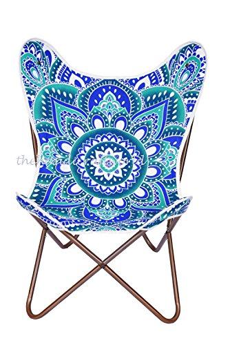 Lotus Mandala algodón, con silla sillas hecho a mano mariposa Butterfly Chair Cover Por Silkroude