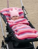 Buggysnuggle Pink Stripe Fleece
