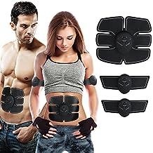 Electroestimulador Muscular Abdominales Cinturón, Masajeador Eléctrico Cinturón,Ejercitador del Cuerpo para el Entrenamiento de los Músculos de Brazos y Piernas para Hombre Mujer