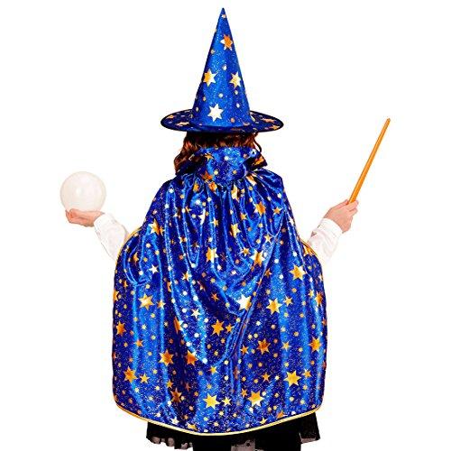 Magier Umhang mit Hut Hexer Kinderkostüm Hogwards Faschingskostüm Zauberin Verkleidung Halloween Outfit Jungen Zauberer Kostüm Set Kinder