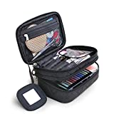 FYX Make-up-Tasche Multifunktionale Handtasche Make Up Organizer Kosmetiktasche für Kosmetik Aufbewahrung von Höher Quilität für Reise und zu Hause (Schwarz)