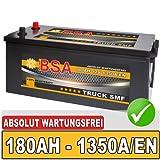 BSA LKW Batterie 180AH SHD Starterbatterie 12V absolut wartungsfrei ersetzt 155Ah 170Ah