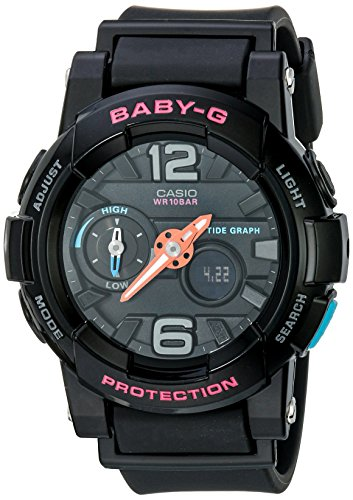 Casio Baby-G Analog-Digital Black Dial Women's Watch - BGA-180-1BDR (BX028)