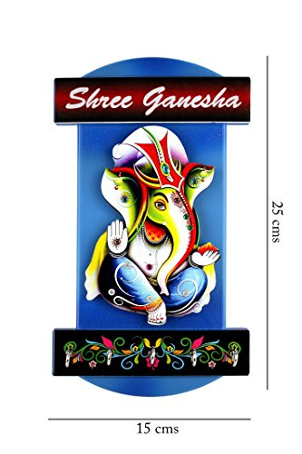 Shree Ganesha Wall Hanging Key Chain Holder | Key Holders For Wall Decor | Key Stands ( Size : 25x15 cms ) For Interio Crafts.  available at amazon for Rs.215