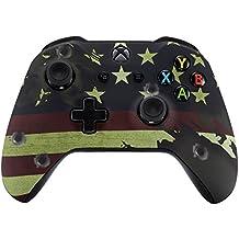 eXtremeRate Obere Case Hülle Schutzhülle Cover Oberschale Skin Housing Kit Schale Gehäuse Shell für Xbox One S/Xbox One X Controller(Flagge der USA)