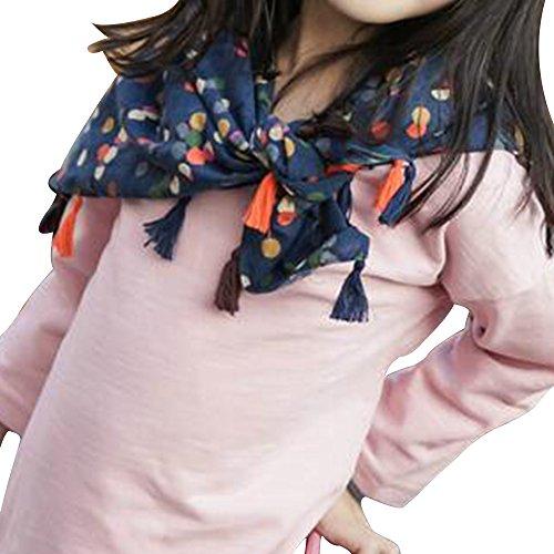 Eizur - sciarpa/foulard/bandana/scialle per bambina in caldo cotone per primavera/autunno/inverno type 6