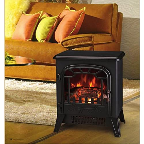 51TaknuFduL. SS500  - Lincsfire New 1850W Portable Electric Stove Fire Place Fireplace Heater Freestanding | Log Burning Flame Effect | 2 Heat Settings