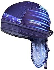 Vbiger Secado Rápido Sombrero de Ciclismo Pañuelo Pirata Gorra de Hombre para Deporte (Azul)
