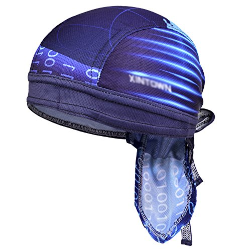 Imagen de vbiger secado rápido sombrero de ciclismo pañuelo pirata  de hombre para deporte azul