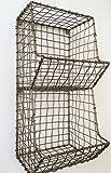 Laiton Antique Fil Magazine Porte-journal Porte-Mesh industriels mur de stockage