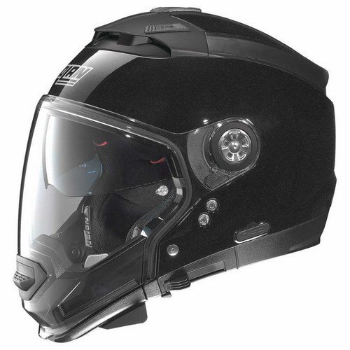 Nolan N44 EVO SPECIAL casco modular para moto Lexan n-com - Metal negro, tamaño L.