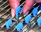 500 Stk. BürstenClip BürstenClips Bürsten für Gitterrost grau - B-Ware