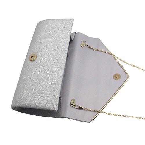 KEENICI, Poschette giorno donna oro Gold Silver
