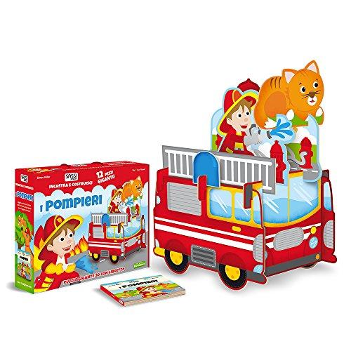 I pompieri. Incastra e costruisci. Libro puzzle. Ediz. a colori. Con Gioco