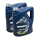 2x MANNOL MN7405-5 Universal 15W-40 Motoröl API SG/CD 5L