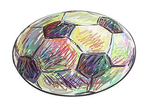Patrón de fútbol creativo de dibujos animados linda moda puerta entrada pasillo alfombra