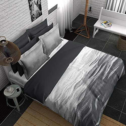 Boutique Living India - Black,White 400TC King Size Cotton Printed with 2 Pillow Covers Bedsheet Set-(274cm x 274cm) H2O - Buy Online Bedsheet