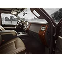 Classica e pubblicità muscoli e per auto con Super King Duty Ford F-250 Ranch (2014) Truck Art-Stampa su carta satinata, 10 mil Archival per finestra, colore: marrone, Carta, Brown Interior View, 24