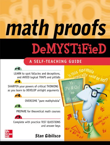 Math Proofs Demystified (English Edition) par  Stan Gibilisco