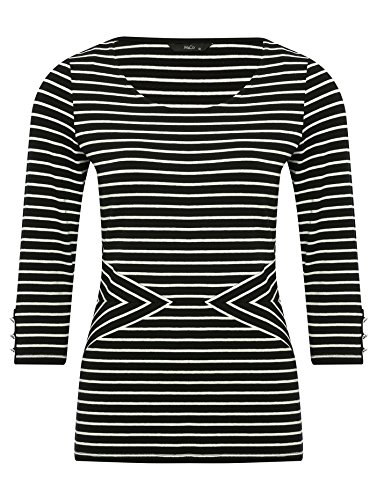 mco-ladies-black-and-white-chevron-striped-three-quarter-length-sleeve-top-black-8