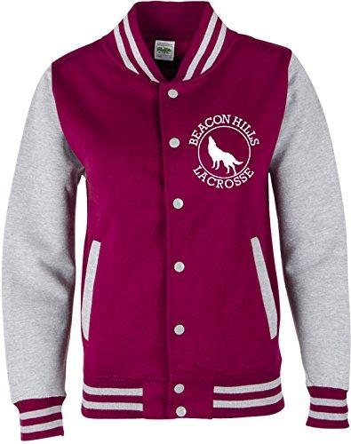 EZYshirt® Beacon Hills Lacrosse Teen Wolf Damen & Herren Team College Jacke Damen/Teen Wolf/Mccall