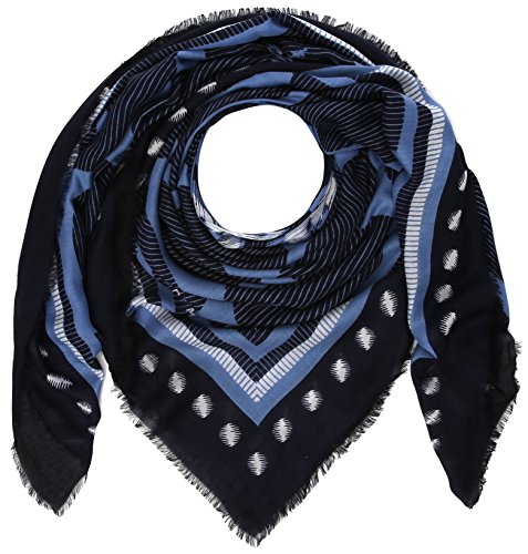 Tommy Hilfiger Team Square, Foulard Donna, Blu (Tommy Navy-Dutch Blue 902), Unica (Taglia Produttore: OS)