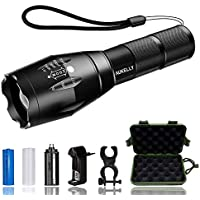 AUKELLY LED Torcia Ricaricabile Torcia Potente Torcie LED,Torce a LED,Tattico Torcia Wasserdicht,Torcia LED Militare 1000 Lumen,Ricaricabile Torcia LED USB,für Camping,con 18650 Batteria
