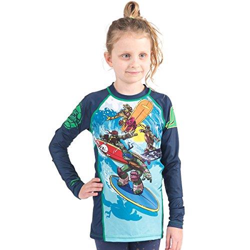 TMNT Kinder tmnt003Kanalisation Surfin Rash Guard L Mehrfarbig