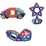 76 Teile Magnetische Bauklötze Bausteine Konstruktions-Spielzeug Set-Educational Kleinkind Baukonstruktion Ziegel Spielzeug für Kreativität Fantasie Hirnentwicklung für Kinder über 3 Jahre