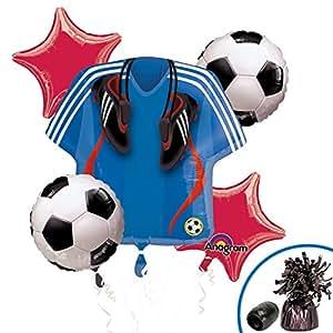 5 Piece Soccer Balloon Mylar Bouquet Set by Anagram