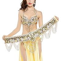 Dance Fairy Danza de Vientre Sujetador (34C / 75C)con la Correa (Oro)