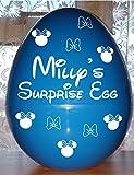 Huevo de Pascua gigante de plástico para niños inspirado en Disney Bow, 35 x 25 cm, regalo de...