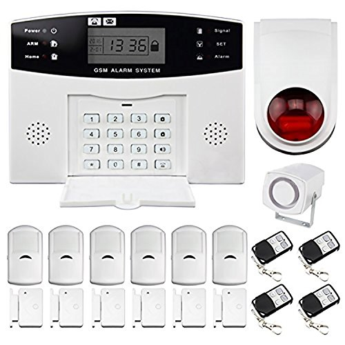 House alarms security system amazon discoball home alarm security burglar alarm system wireless gsm autodial call home house intruder alarm with control host outdoor siren pir motion detector solutioingenieria Gallery