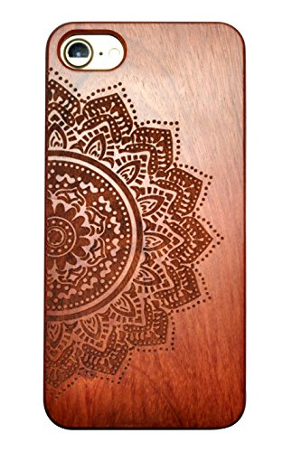 SunSmart iPhone 7 Handy Cover aus Holz für iPhone 7 mit 4,7-Zoll-Display - echtes Sandelholz -07 IP7-4.7''-03