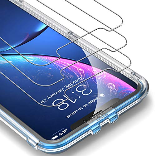 UNBREAKcable Protector Pantalla iPhone XR [3 Paquete]-Cristal