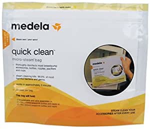 SACHETS STERILISATION MICRO ONDE MEDELA QUICK CLEAN
