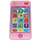 Cooplay Toy Cell Phone Music Touch Screen Mobile Childy Early Education Learning ABC Letters Play Piano Animal Cellphone Like iPhone 5S 6 7 for Baby Kids Sets of 1 (Pink) by Cooplay