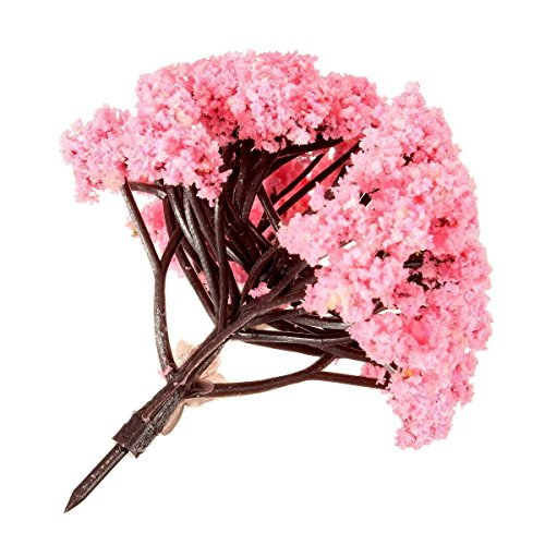 toogoor-5pcs-pink-flower-tree-miniature-fairy-garden-dollhouse-layout-model-decor-ornament-8cm