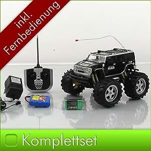 RC Monstertruck Geländewagen Pick Up Auto Stunt Wagen Hummer BIGFOOT Ferngesteuert schwarz