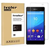 Sony Xperia Z3 Plus Z3+ / Z4 Protection écran, iVoler Film Protection d'écran en Verre Trempé Glass Screen Protector Vitre Tempered pour Sony Xperia Z3 Plus(Z3+/Z4)- Dureté 9H, Ultra-mince 0.20 mm, 2.5D Bords Arrondis- Anti-rayure, Anti-traces de doigts,Haute-réponse, Haute transparence- Garantie de Remplacement de 18 Mois