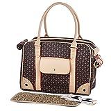 Transporttasche Hundetasche Katzentasche Tragetasche für Hunde bis 5kg Tragebox Hundebox 35*27*20cm (braun)