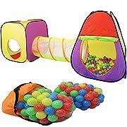 Con tenda questo super grandi per bambini con 200 palle i vostri bambini avranno un grande gioco. Il 3 pezzi tenda del gioco è fornito con una custodia per il trasporto, dove i singoli elementi possono essere memorizzati in modo salvaspazio. ...