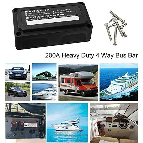 YUSHHO56T Kfz-Verteilerbox Auto Innenraum Teile Verteiler Box Auto Heavy Duty 4 Wege Bus Bar Power Distribution Box mit Schraube Zubehör